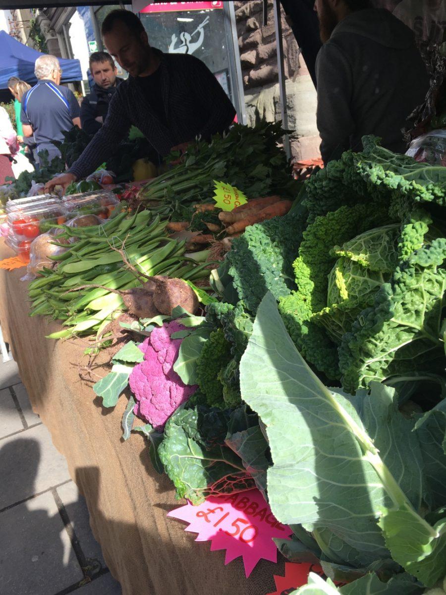 fresh veg, Abergavenny
