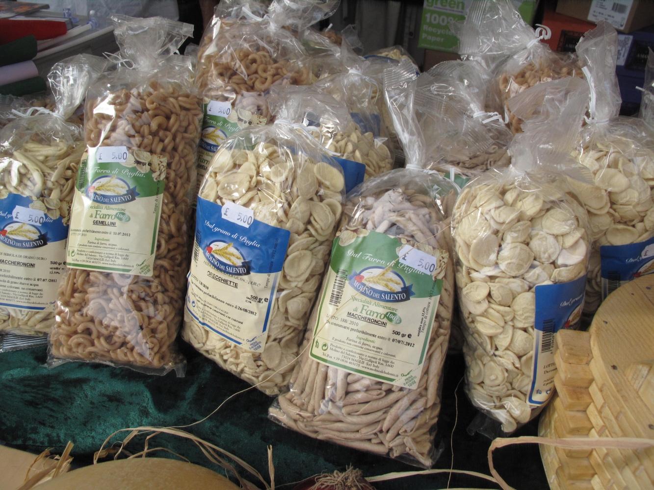 pasta, Puglia, Abergavenny